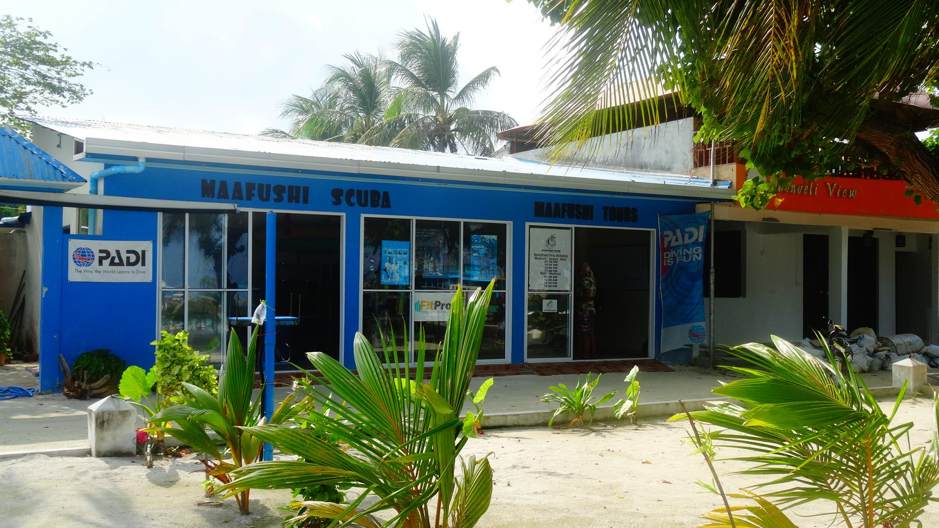 Duikschool op Maafushi in de Malediven