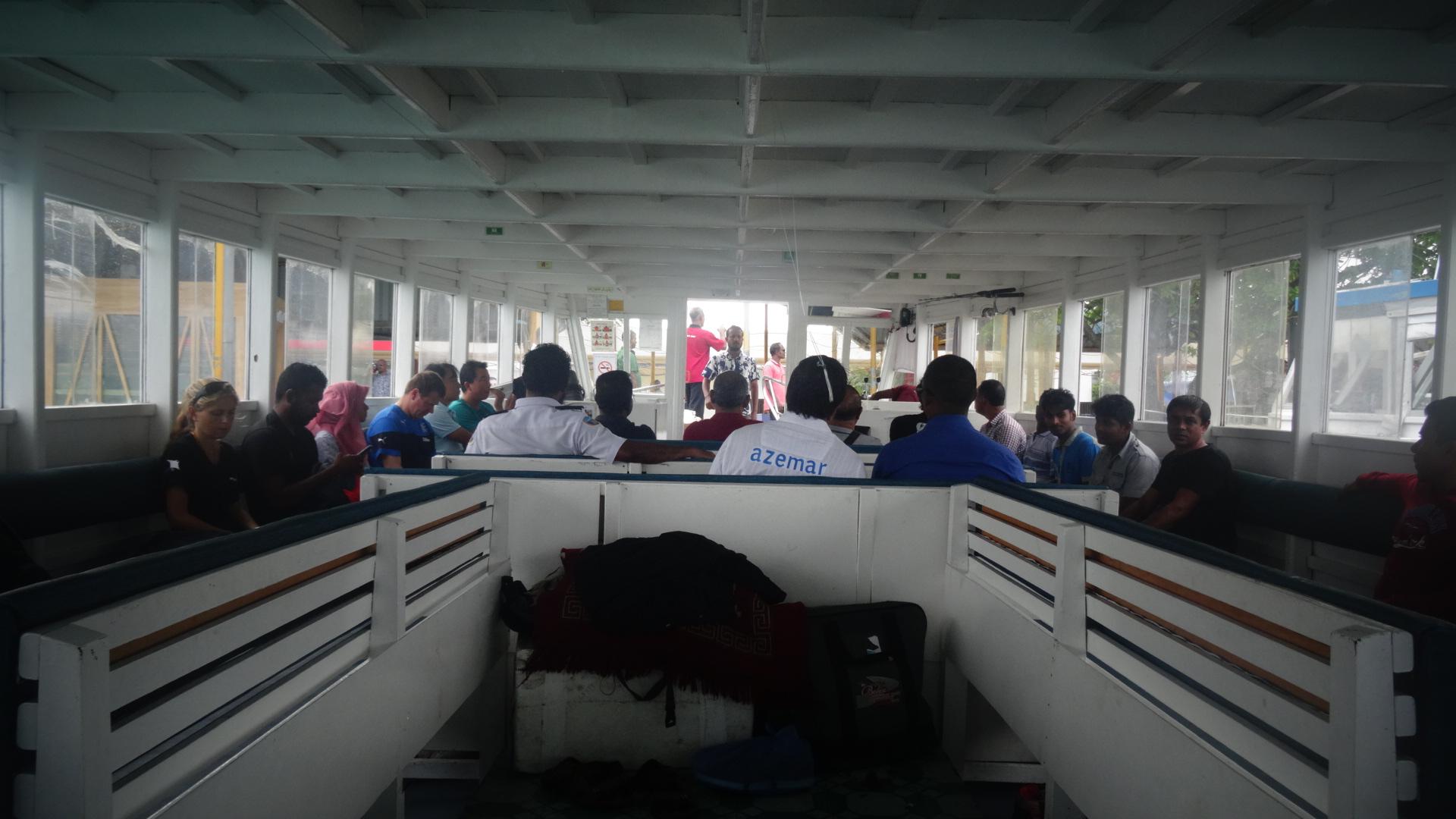 Veerboot in Male in de Malediven